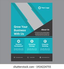 Outstanding modern business flyer design