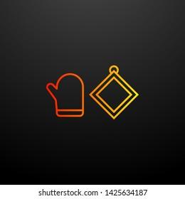 oven mitt nolan icon. Elements of kitchen set. Simple icon for websites, web design, mobile app, info graphics