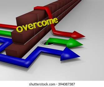 Overcoming Obstacles 3D Render