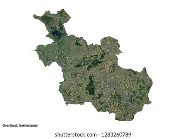 Overijssel, Netherlands Map (3D illustration)