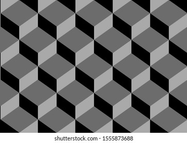 Overlapped gray square box background