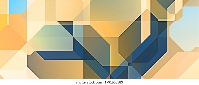 Überschneidungen mit Dreieckshintergrund. Abstrakte geometrische Tapete. Geometrische, bunter dreieckige Formen.