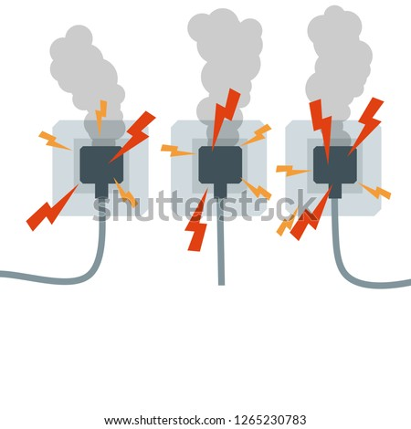 Overloading Mains Voltage Socket Wires Red Stock Illustration ... on socket parts, socket programming, socket fans,