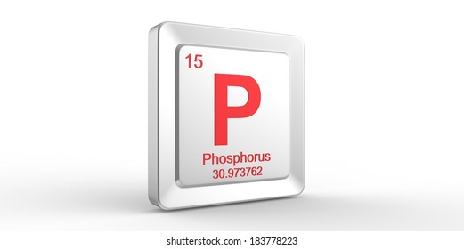 P Symbol 15 Material Phosphorus Chemical Stock Illustration