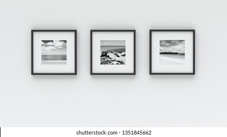P3d hoto frame on wall - Sea picture