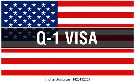 P-4 Visa on a USA flag background, 3D rendering. United States of America flag waving in the wind. Proud American Flag Waving, American P-4 Visa concept. US symbol with American P-4 Visa sign