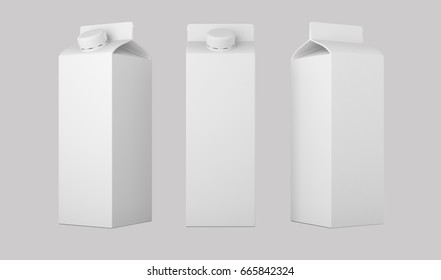 pack big mock up. liquid product  fruit juice, milk.tea . design and artwork. with clipping path (3D Rendering)