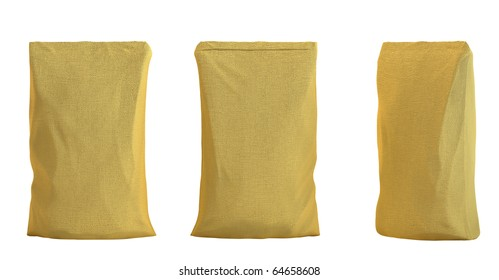 Pack for tea or coffee isolated over white