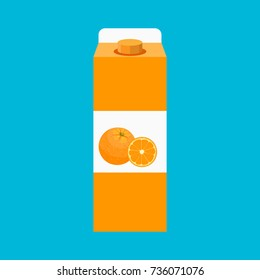 package orange juice icon. illustration in flat style Raster version