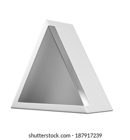 Package triangular shape Box with window