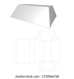 Packaging 3D image Trapezium Shaped Box