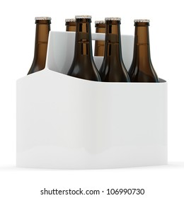 Packaging of Beer isolated on white background