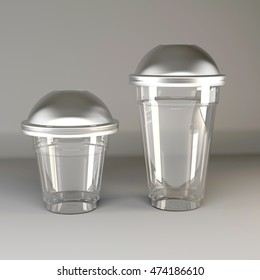 packaging, glass, cover with a spherical, 3d render