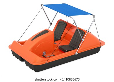 Paddle Boat with canopy, 3D rendering isolated on white background