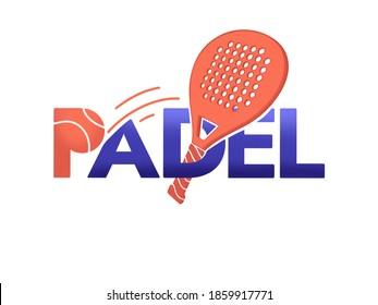 Padel tennis logo, banner or poster.