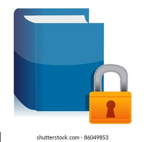 Padlock and the private book illustration