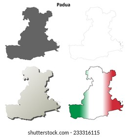 Padua blank detailed outline map set - jpeg version