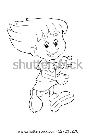 Royalty Free Stock Illustration of Page Exercises Kids Coloring Book ...