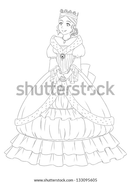 - Page Exercises Kids Coloring Book Princess Stock Illustration 133095605