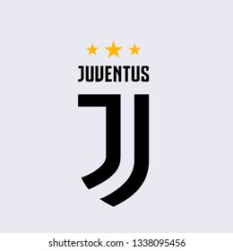 Pahang, Malaysia - Mac 14, 2019: new icon logo Juventus Football Club colloquially known as Juve, is a professional Italian Serie A football club in Turin