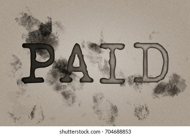 Paid Dirty Stamp on Old Paper