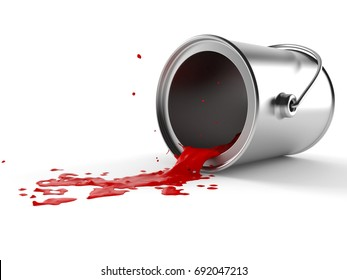 Paint can isolated on white background. 3d illustration