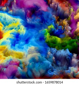 Paint Cloud. Color Dream series. Abstract design made of gradients and spectral hues relevant for imagination, creativity and art painting