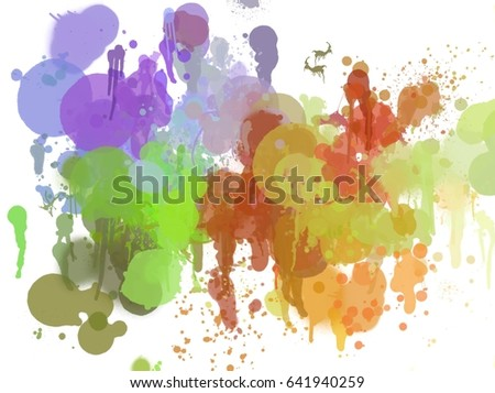 Paint Like Illustration Background Color Splash Stock Illustration