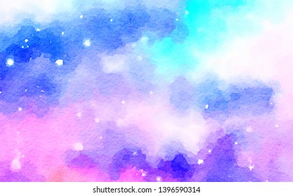 60cd4b7a971 paint like illustration in watercolor style in dreamy pastel tone color