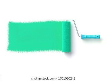 Paint roller isolated on white 3D illustration