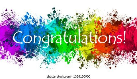 Paint Splatter - Congratulations