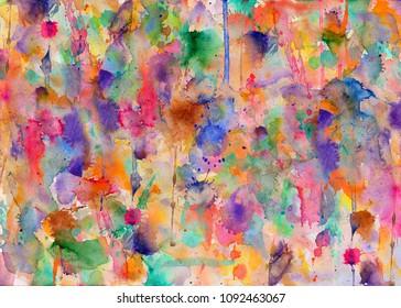 Paint splatters on paper - blobs