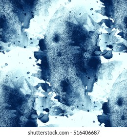 paint water sea abstract waves watercolor seamless texture hand painted blue background