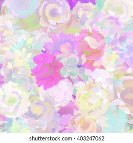 Painted Abstract Floral Motif