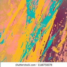 Painted concrete wall. Abstract background. Handmade painting. Art texture. Colorful modern artwork. Strokes of fat paint. Brushstrokes. Modern art. Contemporary art. Artistic wall paint.