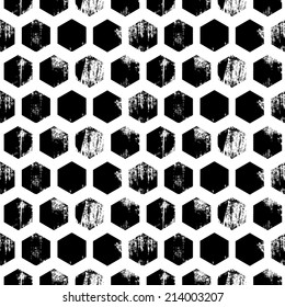 Painted honeycomb pattern