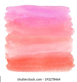 Painted Pink Watercolor Wash Ombre Background.