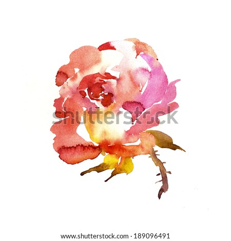 Painted rose greeting cards blog design stock illustration 189096491 painted rose for greeting cards blog design or wedding stationery and invitations m4hsunfo