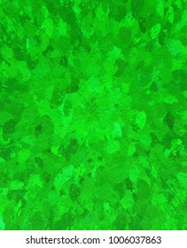Painted textured green background used for textiles, landscapes, spring, summer, and outdoor activities.