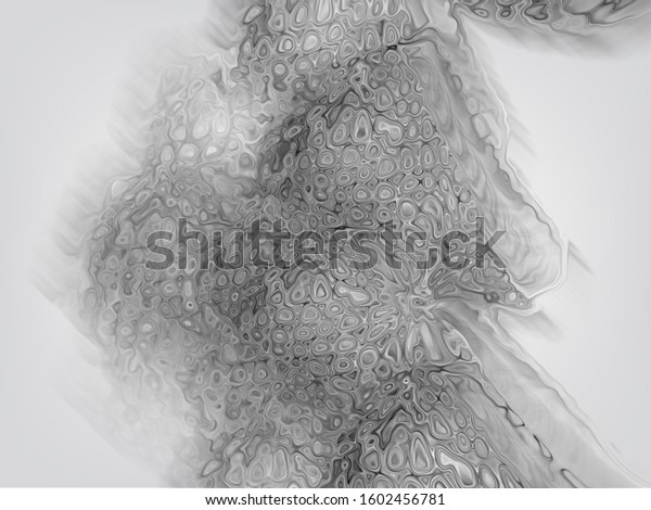 painting abstract, liquid drop grey,  on grey background
