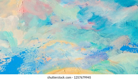 Painting the artist's canvas. abstract plot of the picture. subtleties of colors.  color blot, abstract configuration. non-objective compositions. subjective impressions and fantasies of the artist,