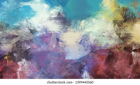 painting brush texture with light slate gray, old mauve and teal blue colors. can be used for wallpaper, cards, poster or creative fasion design elements.