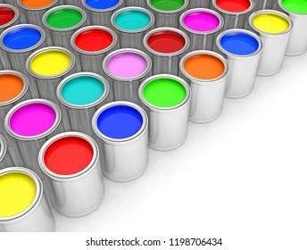 painting color 3D illustration