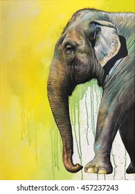 The painting of The Elephant is so beautiful.