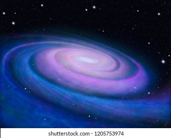 Painting of the Milky Way galaxy.