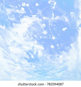 painting on a winter christmas new year theme, snow, illustration, background