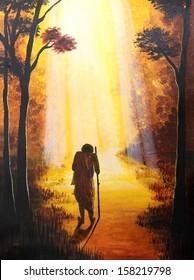 Painting of spiritual, hope, freedom theme