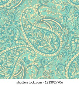 Paisley Damask seamless pattern. Floral background
