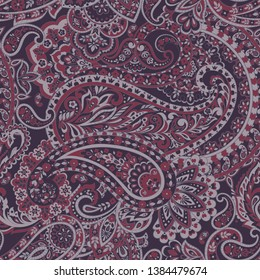 Paisley Floral Ornamental seamless pattern.