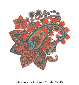 paisley floral pattern. damask Illustration